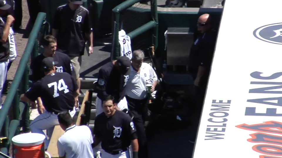 J.D. Martinez injured in 1st