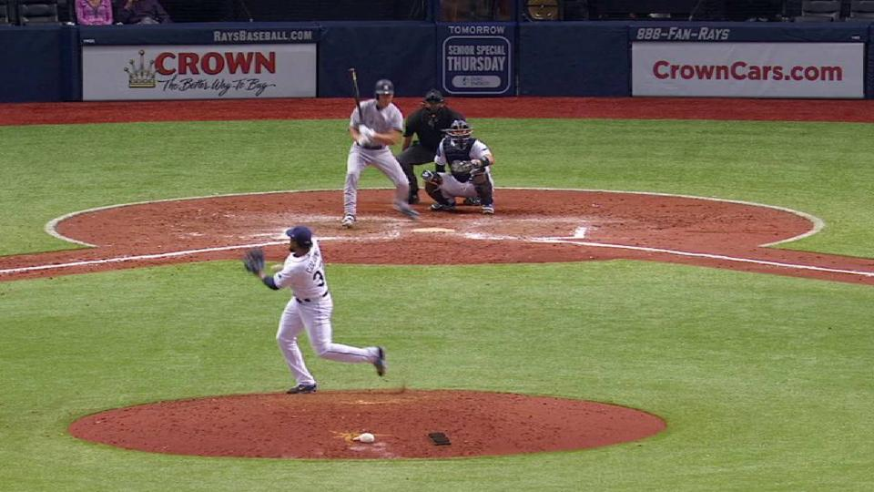 Colome hit by liner twice
