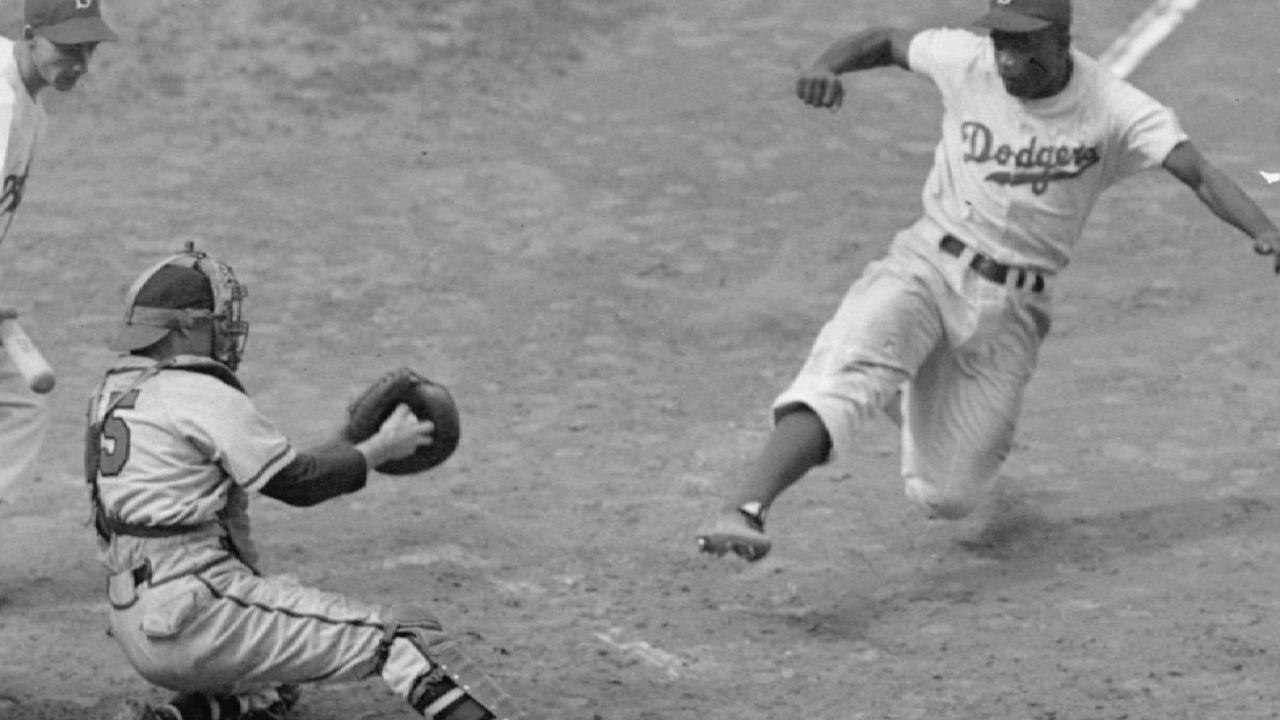 stealing home jackie robinson On april 15, 1947, jackie robinson stepped onto ebbets field as a brooklyn dodger and changed american baseball forever the first black man to play in the white major leagues, he had the courage to confront racism and fight for the rights of all black people, on and off the baseball diamond.