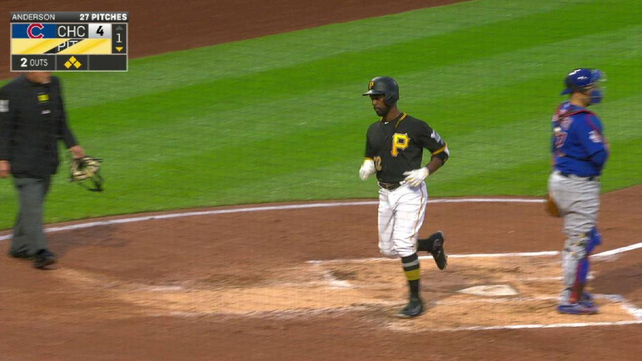 Pirates gift ngoepe makes his first start pittsburgh pirates freeses rbi single to right negle Image collections