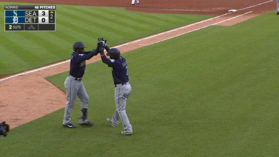Heredia's two-run homer to left