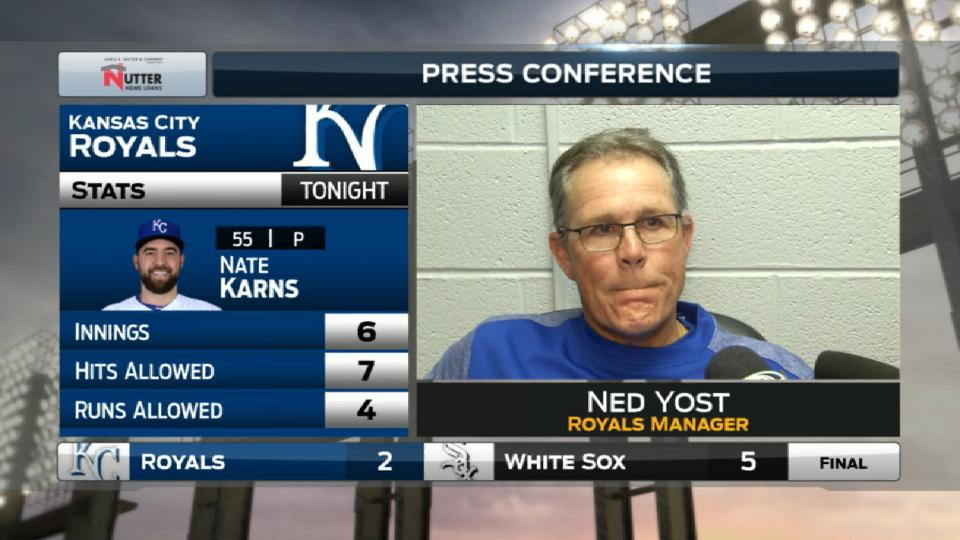 Yost on loss to White Sox