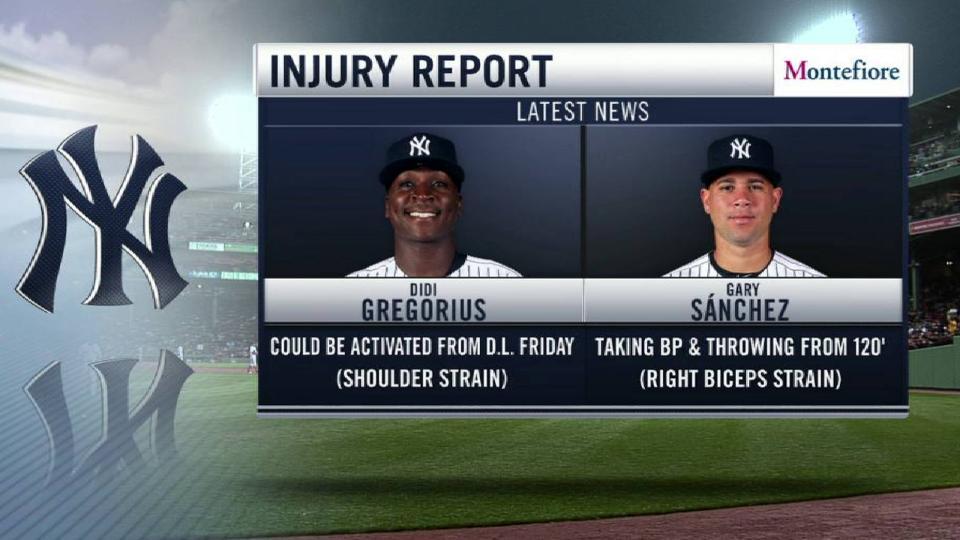 Sanchez, Gregorius injury update