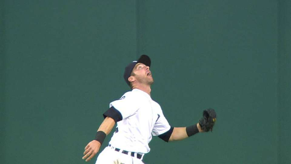 Romine hustles for a nice catch