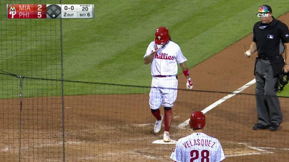 Galvis' solo homer to left