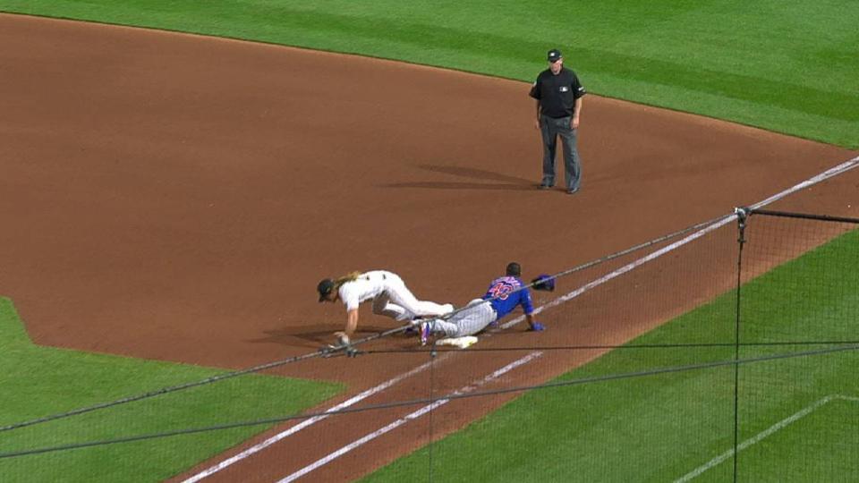 Rivero's nice sliding play