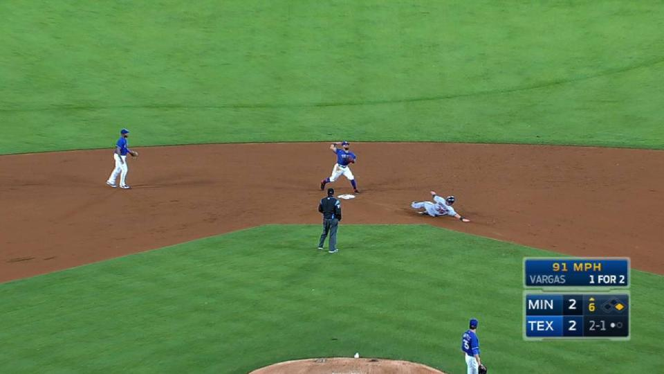 Andrus starts double play