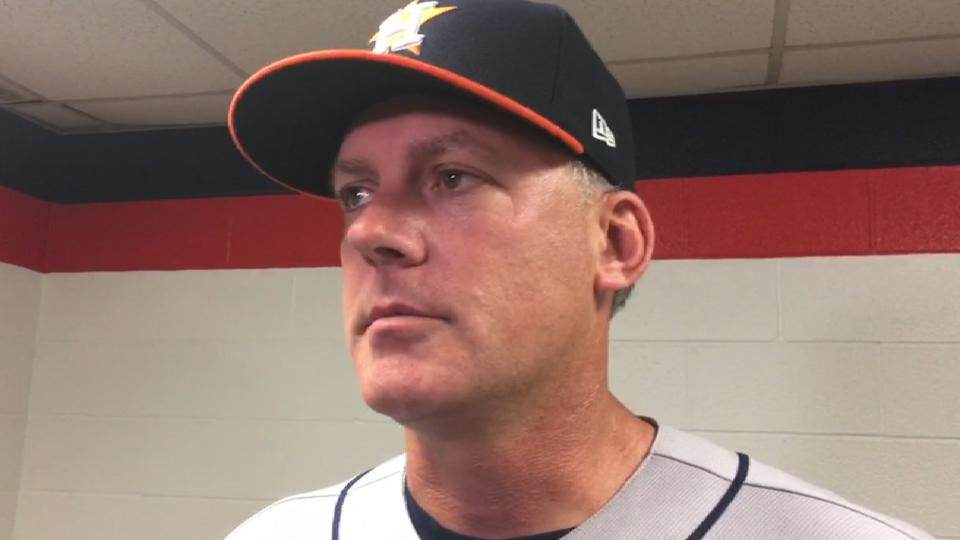 Hinch on 7-6 loss to Indians