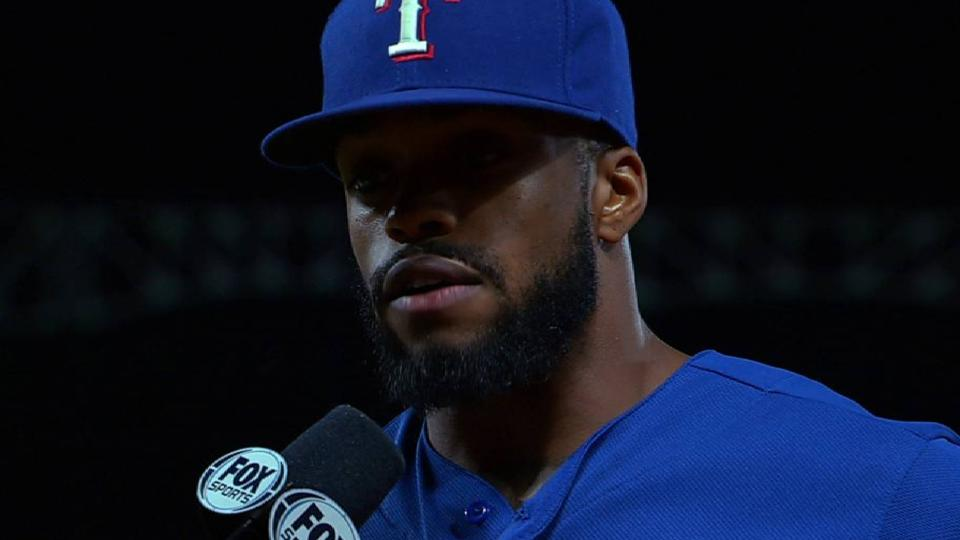 DeShields on win over the Twins
