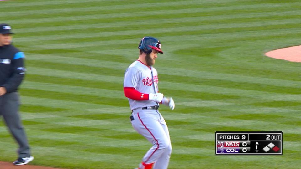 Harper's four-hit game
