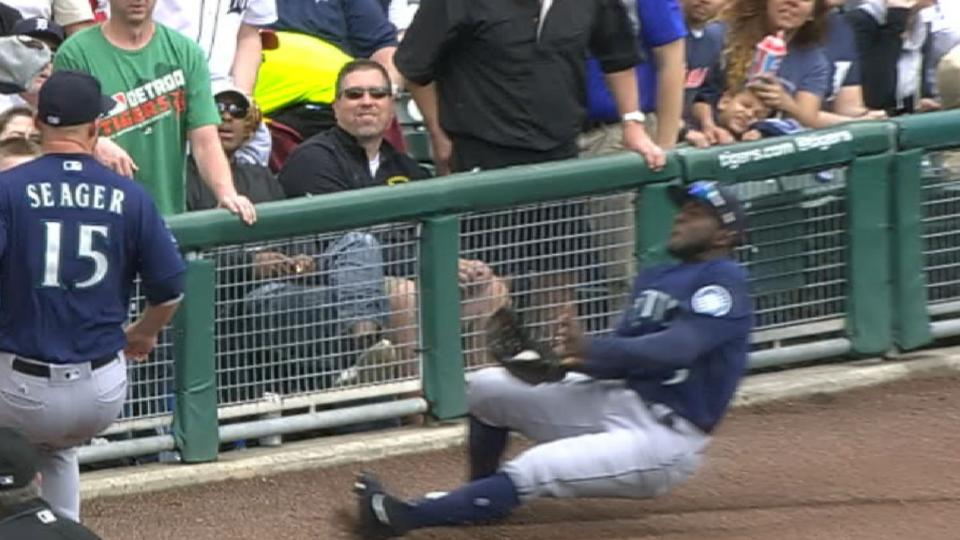 Heredia's incredible catch