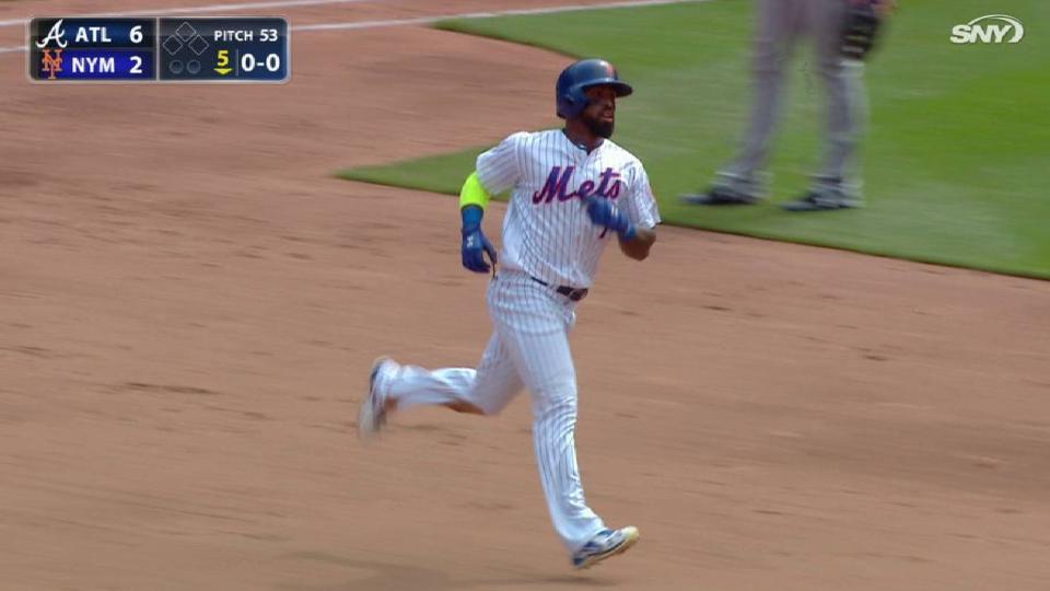 Reyes' first homer of the season