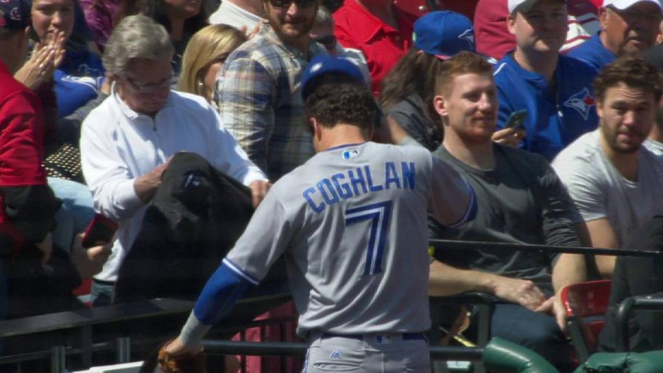 Coghlan starts a double play