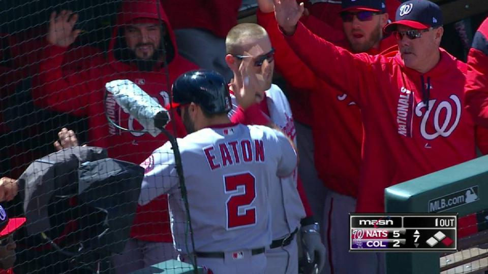 Eaton comes home on an error