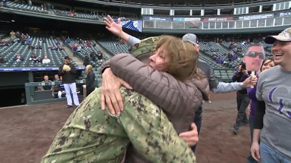 Rockies Fans' Military Surprise