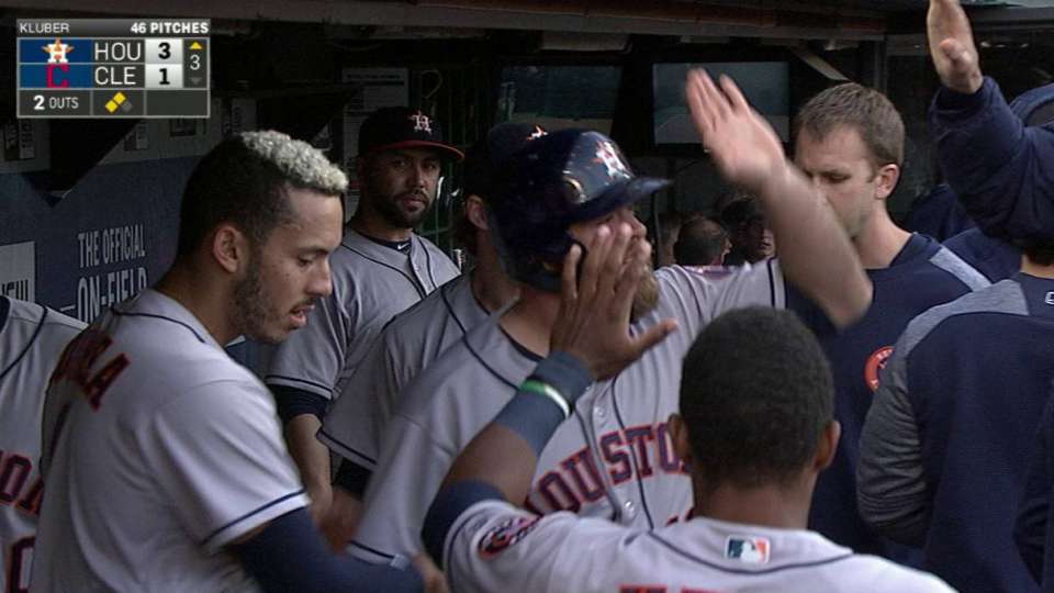 Bregman doubles home a run