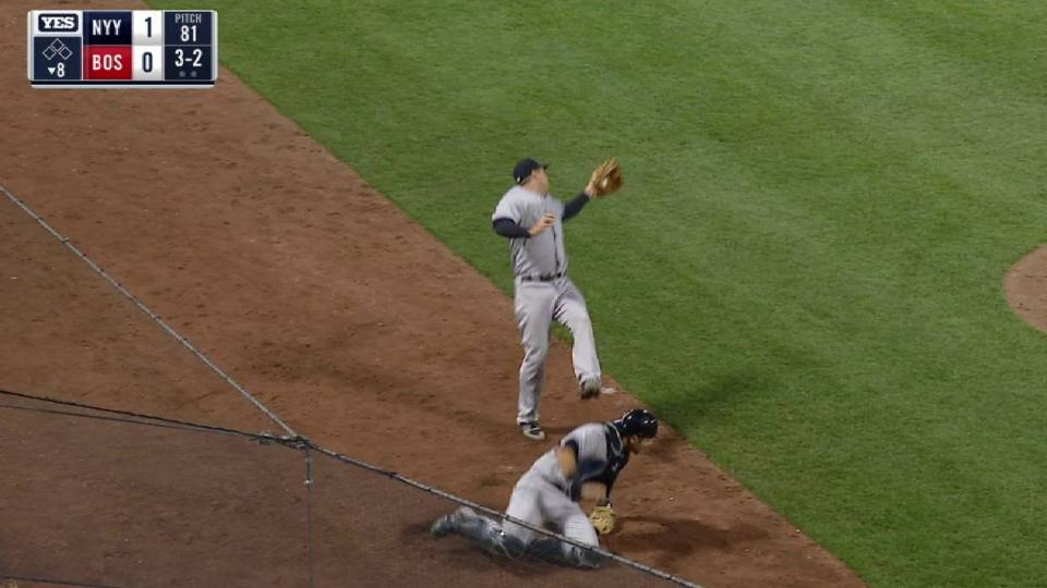 Headley's difficult catch