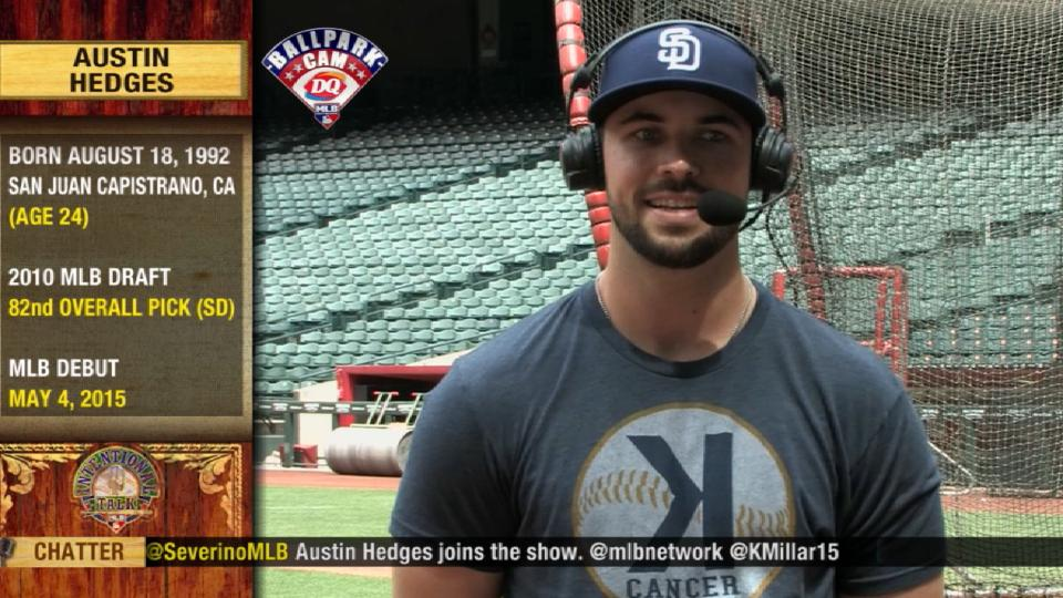 Hedges on his first MLB homer