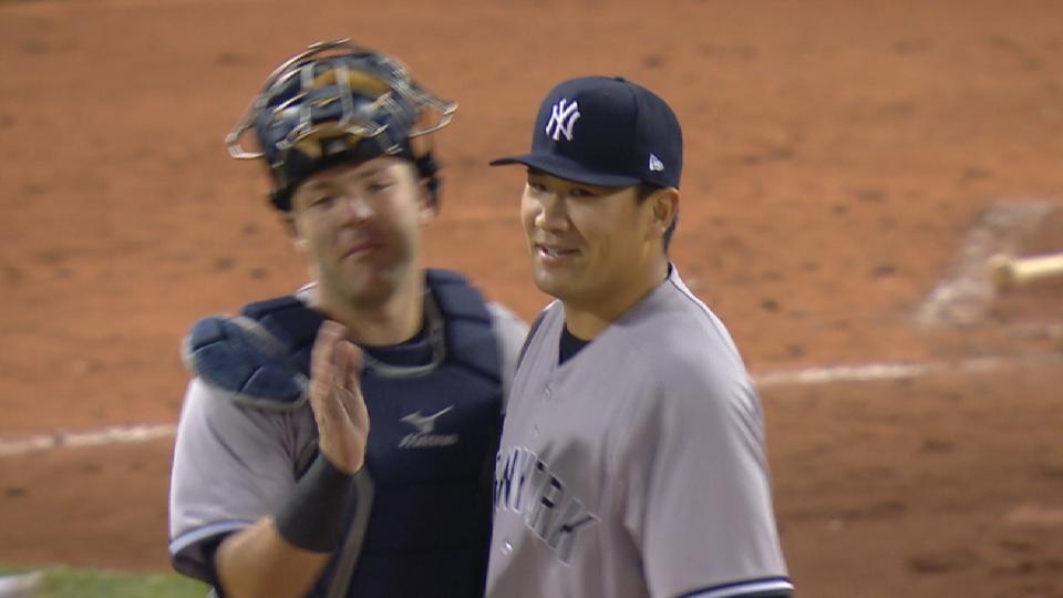 Tanaka's three-hit shutout