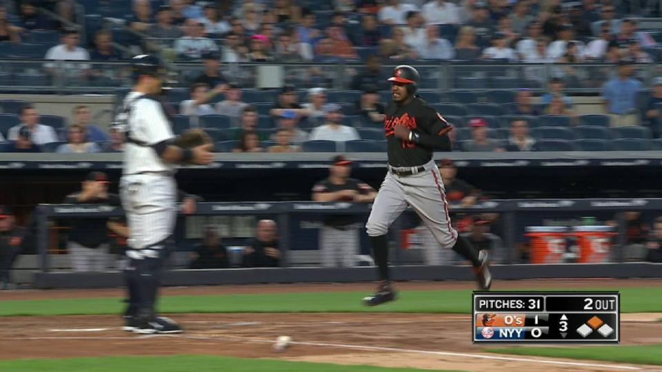 Machado's two-run double
