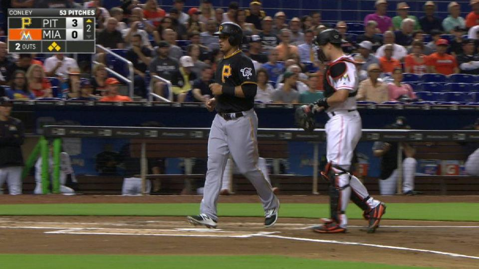Mercer's bases-loaded walk