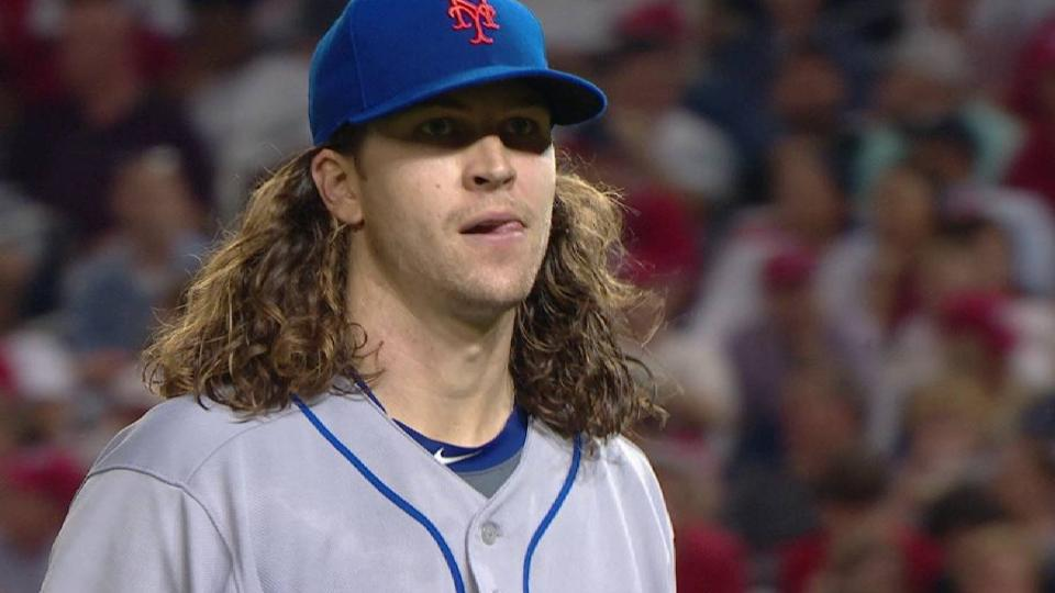 deGrom fans the side in the 5th