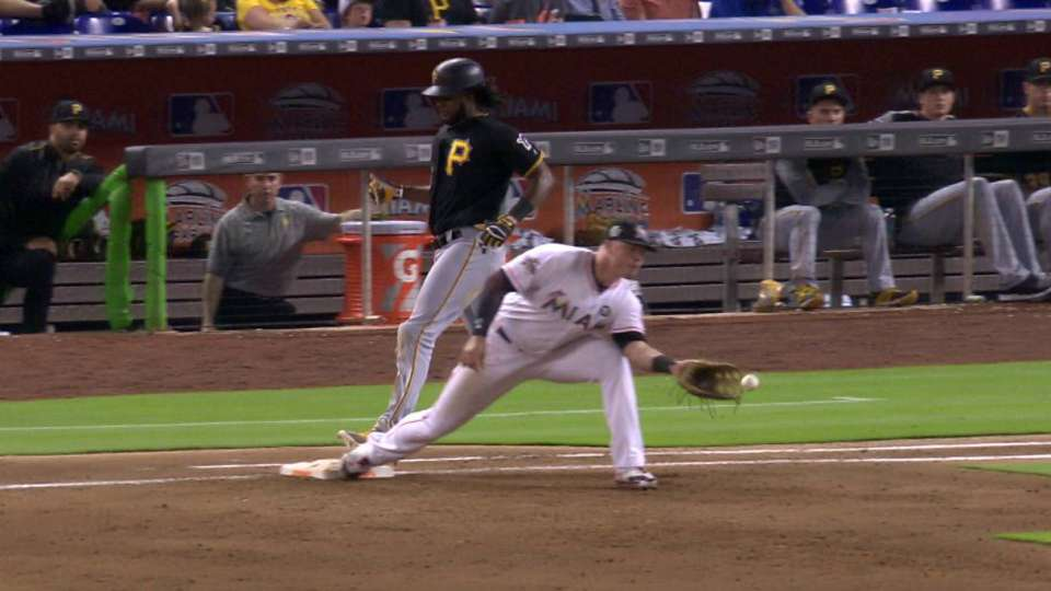 Marlins turn DP, call stands