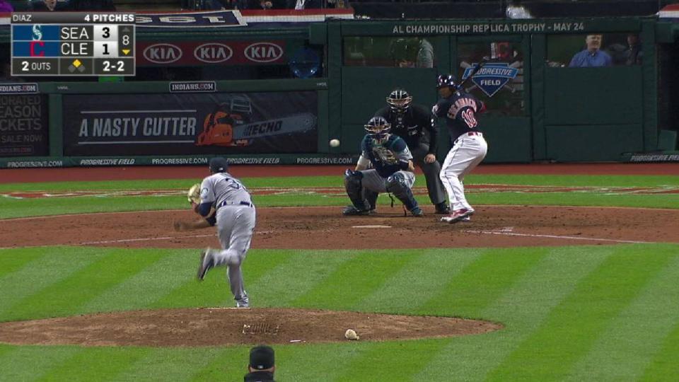 Diaz's inning-ending K
