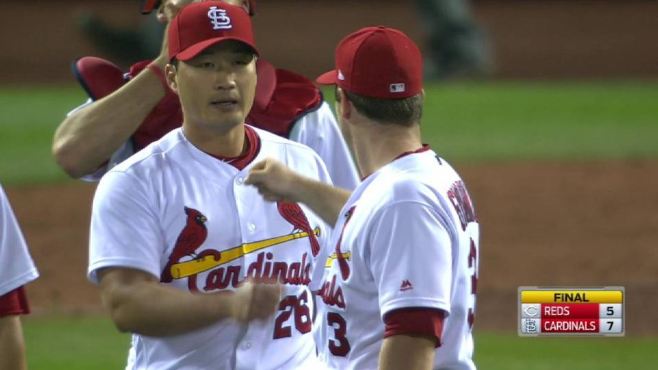Oh seals Cardinals' victory