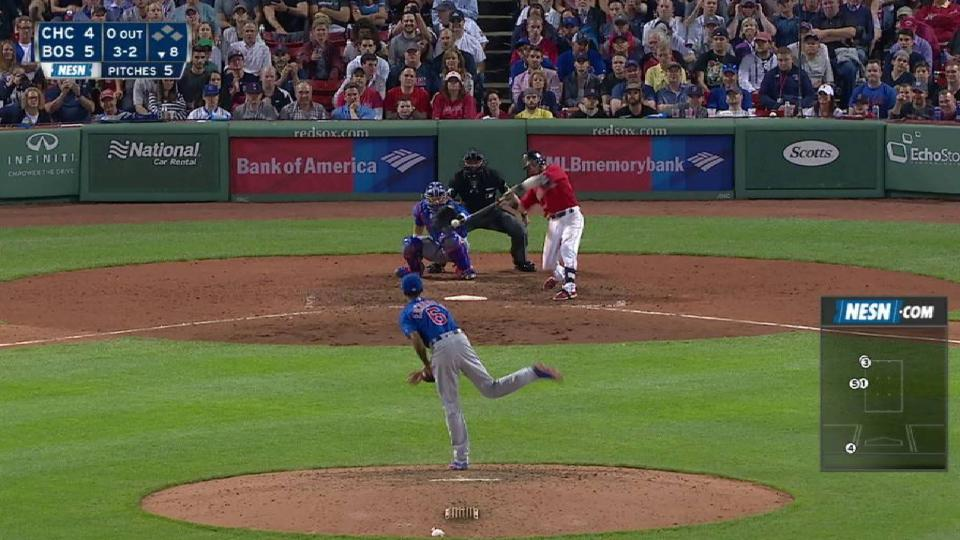 Pedroia's second hit of the game