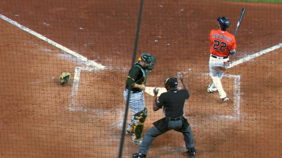 Reddick reaches on interference