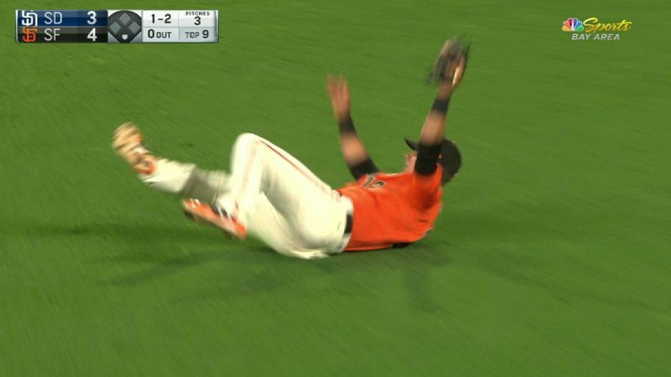 Panik's tough falling grab