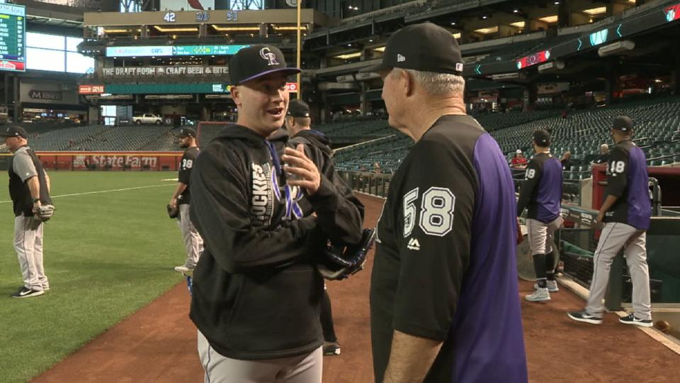 Bettis pays Rockies a visit