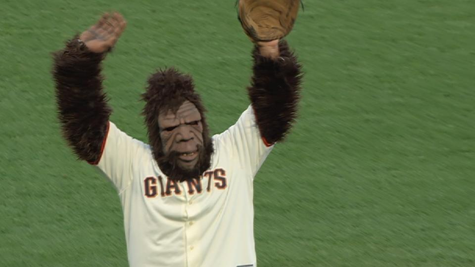 Bigfoot's first pitch