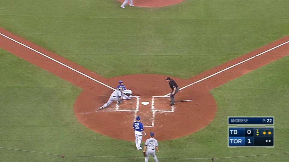 Kiermaier throws out Morales
