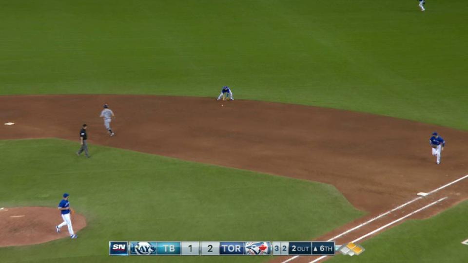 Biagini escapes 6th-inning jam