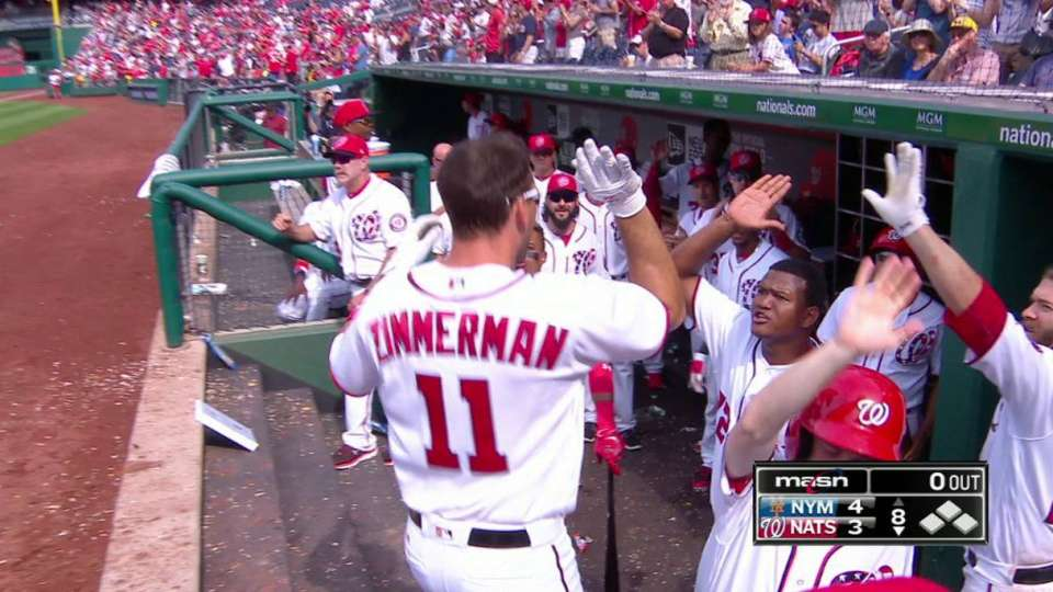 Zimmerman's solo home run