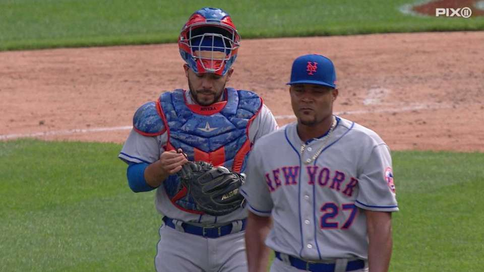 Familia collects first save