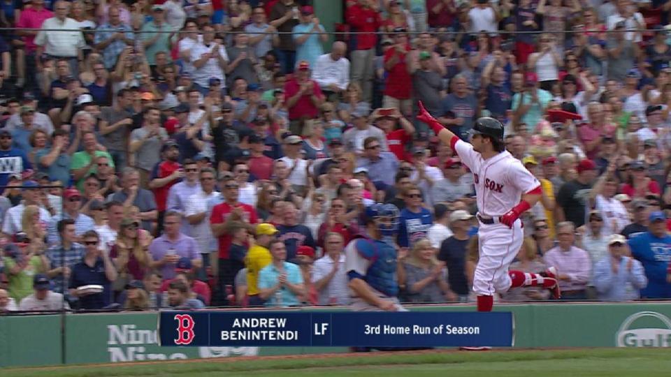 Benintendi's solo home run