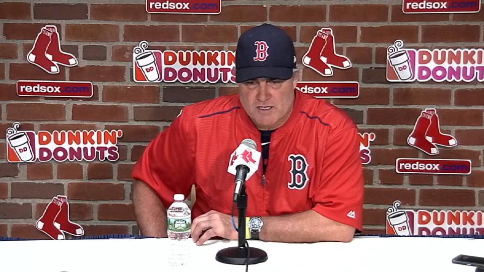Farrell on Red Sox's loss