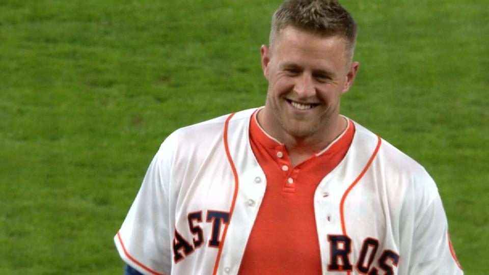 J.J. Watt throws out first pitch