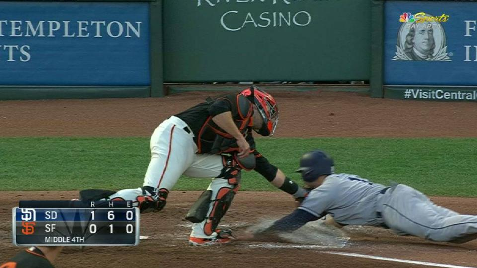 Panik nabs Hedges at the plate