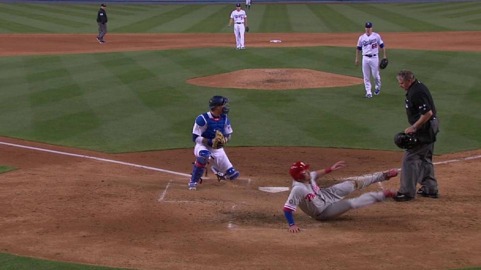 Utley stops run from scoring