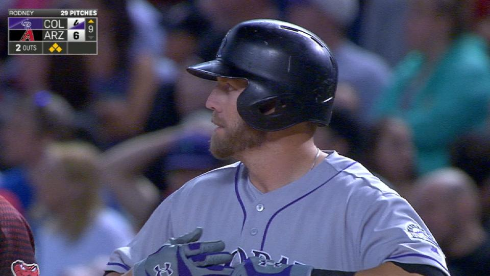 Rockies score three runs in 9th