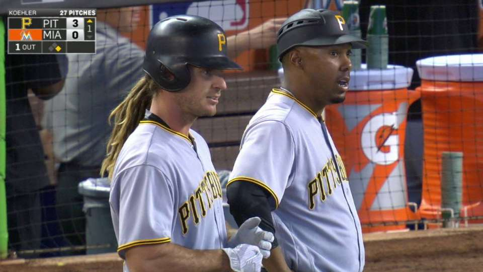 Jaso's RBI single to right