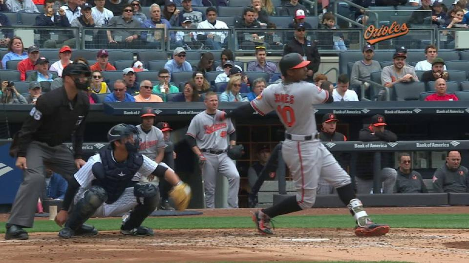 Jones' RBI single