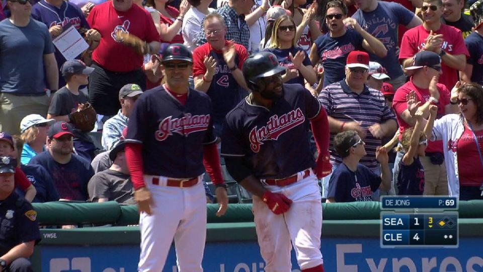 Almonte's fly ball RBI triple