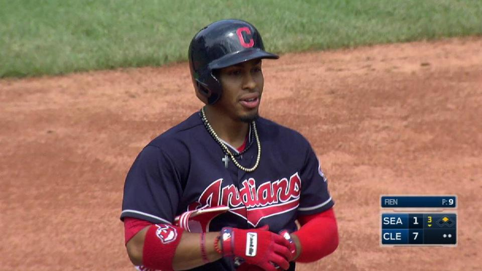 Lindor's two-run double