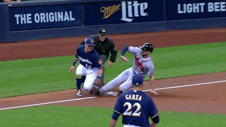 Inciarte steals third base