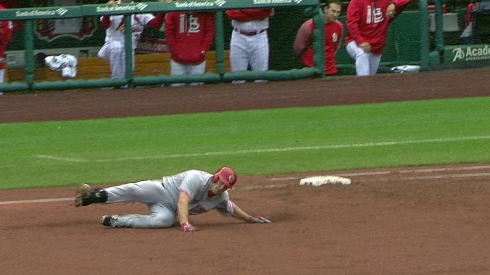 Schebler lines a double to right